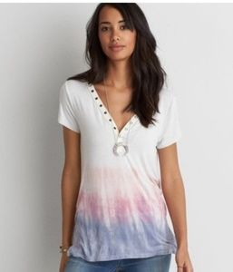 AEO SOFT & SEXY VNECK AND  BACK TIE DYE TEE